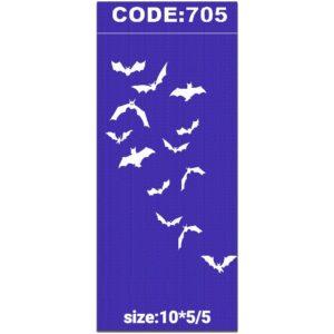 شابلون کد 705 طرح خفاش