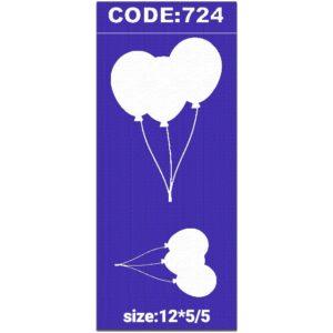 شابلون کد 724 طرح بادکنک