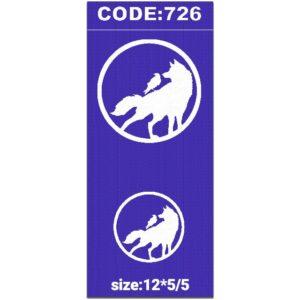 شابلون کد 726 طرح گرگ