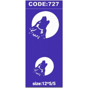 شابلون کد 727 طرح گرگ