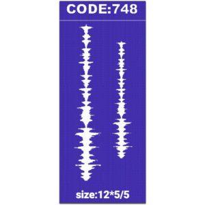 شابلون کد 748 طرح موج صوتی