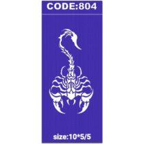 شابلون کد 804 طرح عقرب