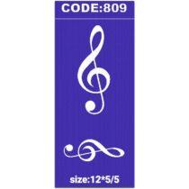 شابلون کد 809 طرح موسیقی