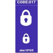 شابلون کد 817 طرح قفل
