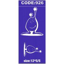 شابلون کد 926 طرح حلزون
