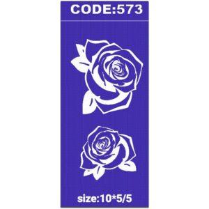 شابلون کد 573 طرح گل رز