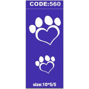 شابلون کد 560 طرح قلب