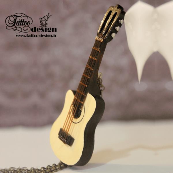 گردنبند موسیقی گیتار دست ساز