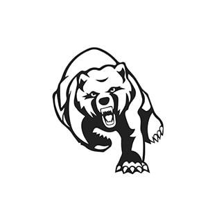 طرح خرس برای اسپری تاتو موقت