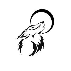 طرح گرگ برای اسپری تاتو موقت